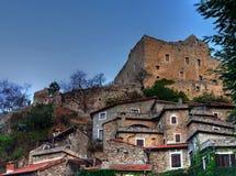 rocca savona Di Ιταλία castelvecchio barbena Στοκ Φωτογραφία