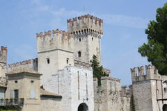 Rocca Scaligera Castle Royalty Free Stock Photo