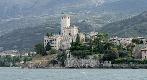 Rocca Scaligera in Malcesine. In Italy royalty free stock photography