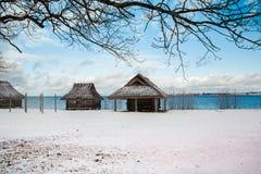Roccaal merrie, mening over de Haven van Tallinn Bekker stock afbeelding