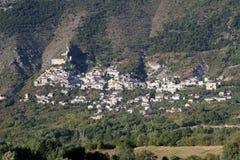 Roccacasale Abruzzo, Italien Royaltyfri Bild