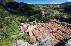 Roccalbegna from above Royalty Free Stock Photo