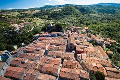 Roccalbegna in Tuscany Stock Image