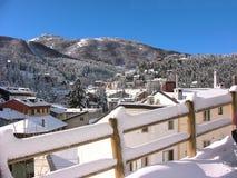 Roccaraso debajo de la nieve Fotografía de archivo