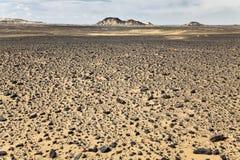 Rocce al deserto nero Fotografie Stock Libere da Diritti
