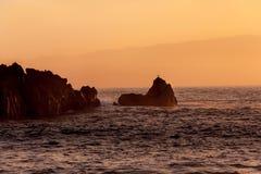 Rocce al tramonto Fotografie Stock Libere da Diritti