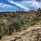 Rocce, alberi & nuvole Immagini Stock
