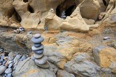 Rocce alla spiaggia #1 Fotografia Stock