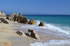 Rocce alla spiaggia Fotografia Stock Libera da Diritti