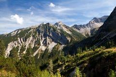 Rocce in alpi europee Immagine Stock