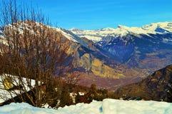 Rocce in alpi svizzere Fotografie Stock Libere da Diritti