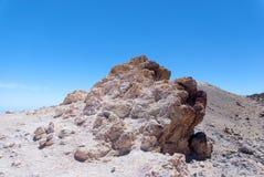 Rocce bianche in Park Canadas del Teide Fotografia Stock Libera da Diritti