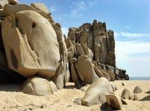 Rocce in Cabo San Lucas Fotografia Stock