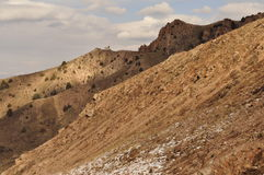 Rocce, CHIMGAN, l'UZBEKISTAN Fotografia Stock
