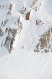 Rocce coperte di neve all'aperto fotografia stock libera da diritti