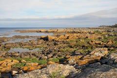 Rocce costiere, Bornholm Fotografie Stock Libere da Diritti