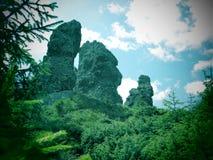 12 rocce degli apostoli in montagne di Calimani Immagini Stock Libere da Diritti