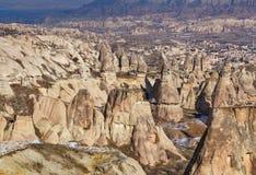 Rocce del camino di Cappadocia in Turchia Fotografia Stock