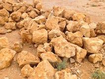 Rocce del deserto in Masada Israel Palestine immagini stock libere da diritti