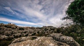Rocce del EL Torcal Fotografia Stock