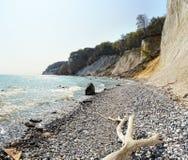 Rocce del gesso dell'isola di Rugen (Germania, Meclemburgo-Pomerania) Immagini Stock Libere da Diritti
