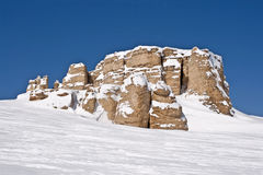 Rocce del granito in grandi montagne del corno del Wyoming Fotografia Stock Libera da Diritti
