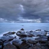 Rocce del mare dell'oceano Fotografie Stock