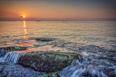 Rocce del mare di bellezza Fotografie Stock Libere da Diritti