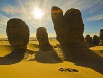 Rocce del Sahara Immagini Stock