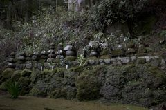 Rocce del tempio a Hakone, Giappone Fotografia Stock
