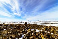 Rocce del vulcano, Islanda immagini stock