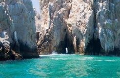 Rocce dell'estremità degli sbarchi in Cabo San Lucas Fotografia Stock