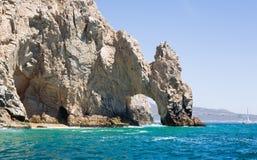 Rocce dell'estremità degli sbarchi in Cabo San Lucas Fotografie Stock