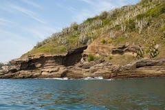 Rocce dell'oceano di Buzios - RJ fotografia stock libera da diritti
