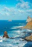 Rocce dell'oceano sull'isola di Tenerife Immagine Stock Libera da Diritti
