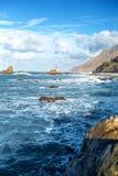Rocce dell'oceano sull'isola di Tenerife Fotografie Stock