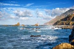 Rocce dell'oceano sull'isola di Tenerife Immagini Stock
