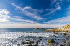 Rocce dell'oceano vicino al villaggio di Almaciga, Tenerife Fotografia Stock Libera da Diritti