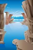 Rocce della cascata Fotografia Stock