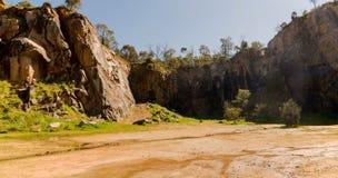 Rocce della cava della montagna nel parco nazionale di Greenmount Fotografie Stock Libere da Diritti