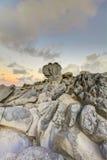 Rocce della lava del Maui dell'isola grandi. Fotografia Stock