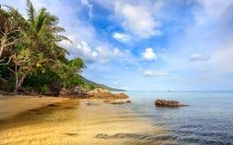 Rocce della linea costiera della spiaggia di Karimunjawa Indonesia Java immagini stock libere da diritti