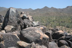 Rocce della maschera dell'Arizona Fotografia Stock Libera da Diritti