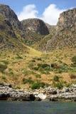 Rocce della montagna Zingaro di dello di Riserva sicily L'Italia immagini stock libere da diritti