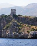 Rocce della montagna Zingaro di dello di Riserva sicily L'Italia fotografia stock libera da diritti
