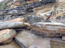 Rocce della spiaggia Fotografia Stock