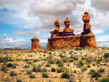 Rocce della valle del folletto, parco di stato Utah Fotografie Stock