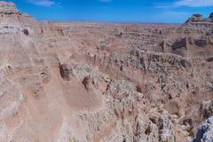Rocce dentellate del parco nazionale dei calanchi Fotografia Stock Libera da Diritti
