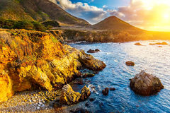 Rocce di Big Sur immagini stock libere da diritti