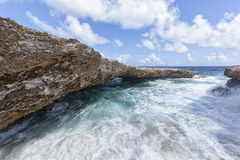 Rocce di Boka Tabla, Curacao Fotografie Stock